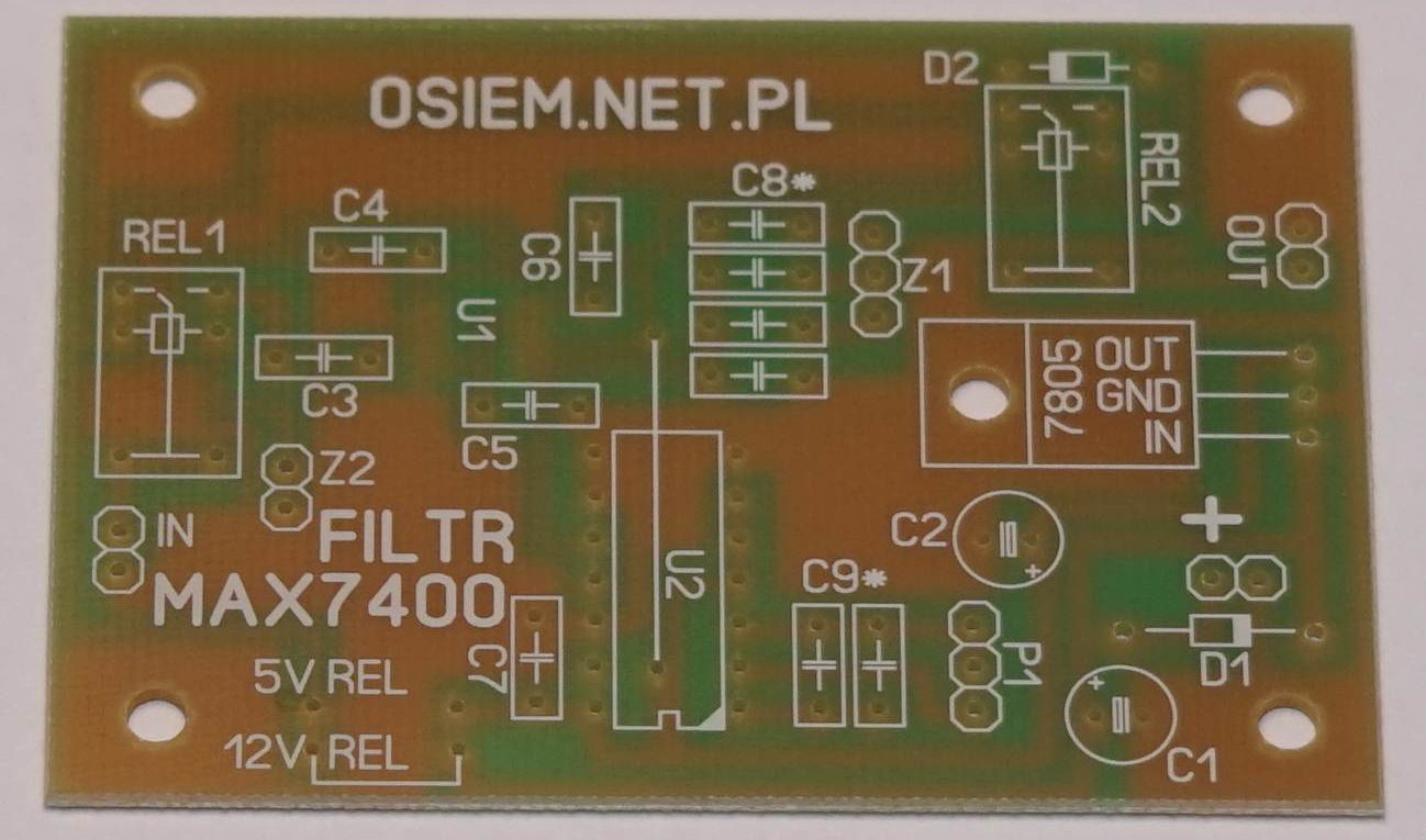 filtr audio_max7400_pcb