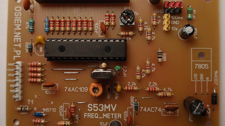 pcb miernika częstotliwości w/g S53MV